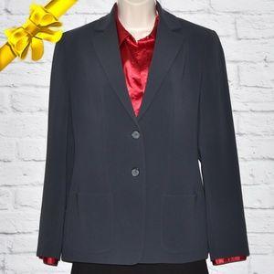 Jones New York Lined Grey Blazer #k8g06p01f11p0